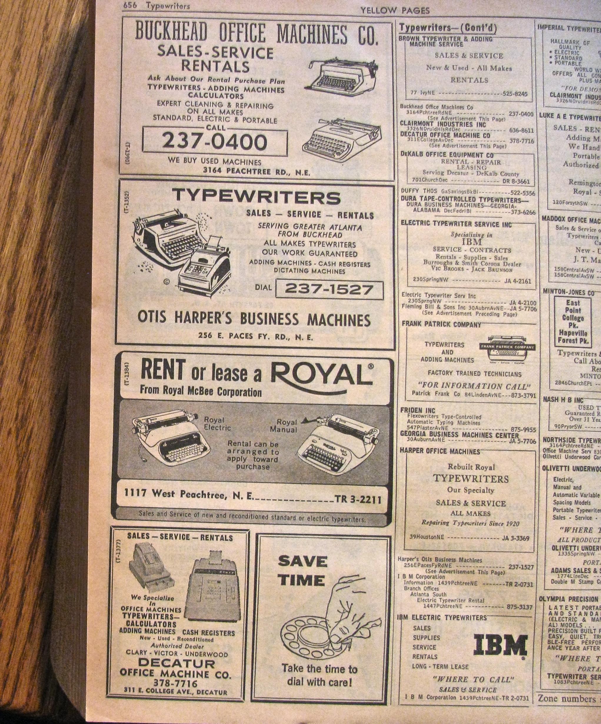 greenville sc post card blog 1964 atlanta telephone directory